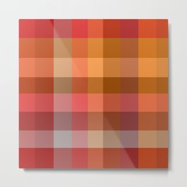 Hot Red Collage Metal Print