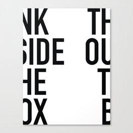 Outside The Box Canvas Print