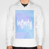water colour Hoodies featuring Water Colour Infinity  by Ladsandstuff