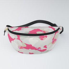 Orchid Blossom Pattern — Pink Fanny Pack