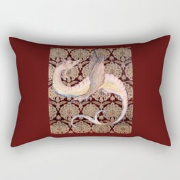 White Dragon - Garden of Beasts Collection Rectangular Pillow