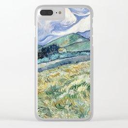 """Vincent van Gogh """"Mountainous Landscape behind Saint-Paul Hospital"""" Clear iPhone Case"""
