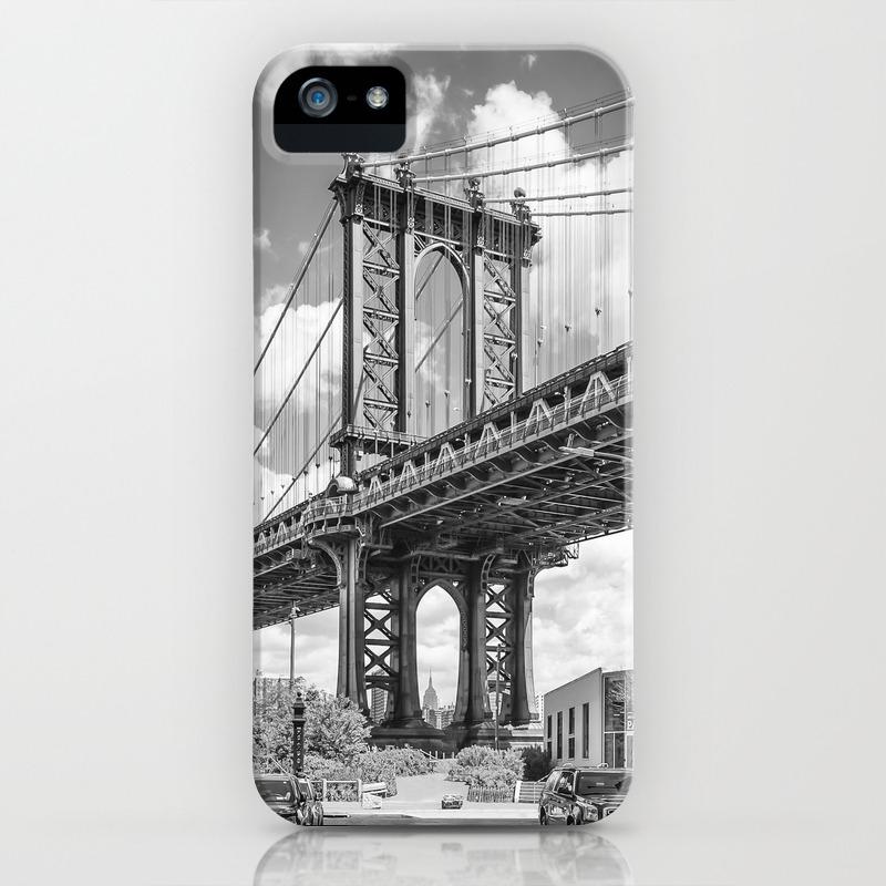 New York City Manhattan Bridge Upright Slim Panorama Iphone Case