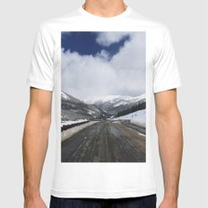 Snowy Road Mens Fitted Tee White MEDIUM