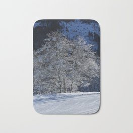 Hoarfrost And Snow Bath Mat