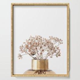 Dried Flowers Neutral Minimalist Serving Tray