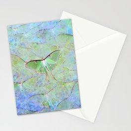 Glowing Luna Moth Stationery Cards