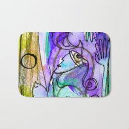 Abstract Nude Goddess No. 40C by Kathy Morton Stanion Bath Mat