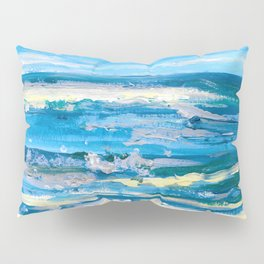 Wave. Beach Painting Series No.10 Pillow Sham