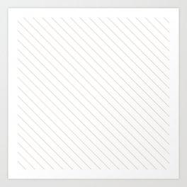 Bridal Blush Stripe Art Print