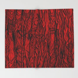 Tree Bark Throw Blanket