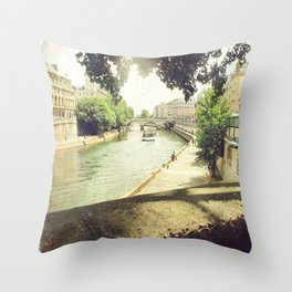 Seine, Paris Throw Pillow