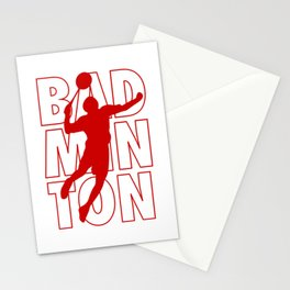 Badminton Spieler Stationery Cards