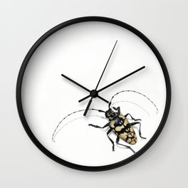 Longhorn Beetle Wall Clock