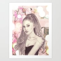 ariana grande Art Prints featuring Ariana by Share_Shop