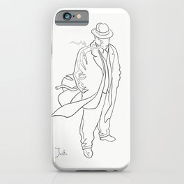 Mobster in contemplation iPhone Case