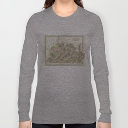 Vintage Map of Virginia (1838)  Long Sleeve T-shirt