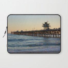 San Clemente Pier at sunset Laptop Sleeve