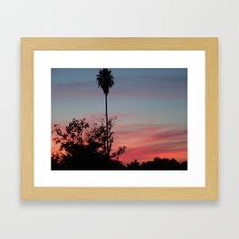 Pink Sunset Two Framed Art Print