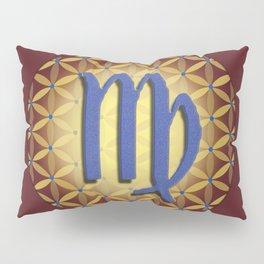 VIRGO Flower of Life Astrology Design Pillow Sham