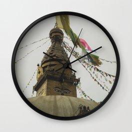Exploring the City of Kathmandu in Nepal Wall Clock