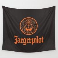 pilot Wall Tapestries featuring Jaeger pilot by Aldo Cervantes Saldaña