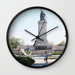 sk8 not war Wall Clock
