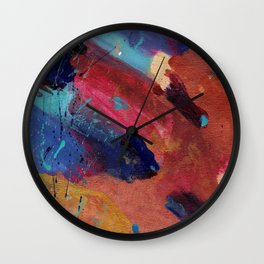 New Beginnings - Mixed Media Painting -Abstract Art Wall Clock