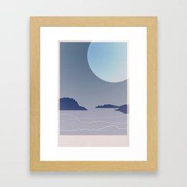 Where July Ends Framed Art Print