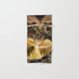 "William Blake ""The Great Red Dragon and the Woman Clothed with the Sun"" Hand & Bath Towel"