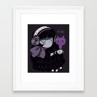 goth Framed Art Prints featuring Goth Tea by Princess Misery