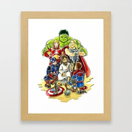 Save The World Mission Framed Art Print