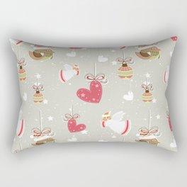 Christmas Elements Design Pattern 2 Rectangular Pillow