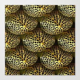 Gold Filigree Leaf (small) Canvas Print