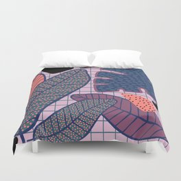 Palm & Monstera Leaves Duvet Cover