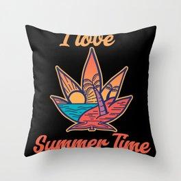 I Love Summer Time Throw Pillow