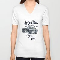 mustang V-neck T-shirts featuring Mustang dream by dareba