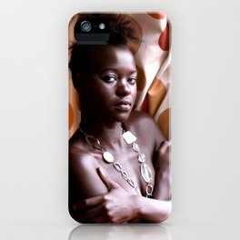 """""""Rene"""" Beautiful and Strong Black woman. iPhone Case"""