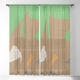 Mistakes away Sheer Curtain