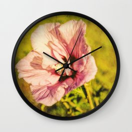 Rose of Sharon In Sunlight Wall Clock