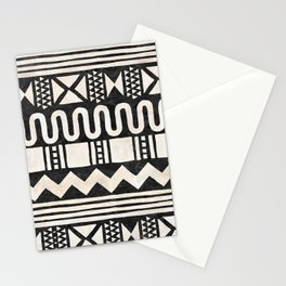 African Shapes - Black Stationery Cards