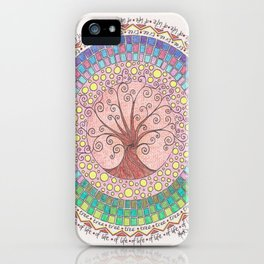 Tree of Life with Mosaic iPhone Case