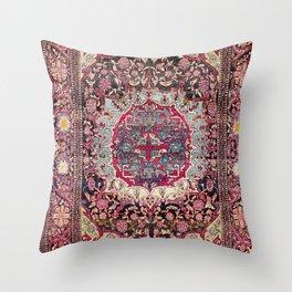 Esfahan  Antique Persian Rug Throw Pillow