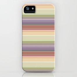 Multi-colored horizontal stripes 1 iPhone Case