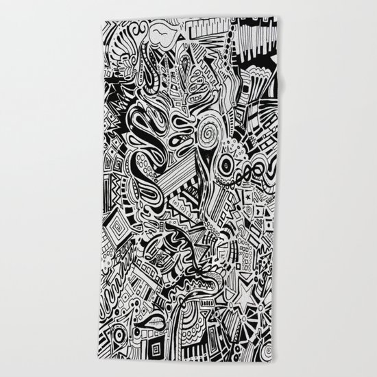 Inky \\ Beach Towel