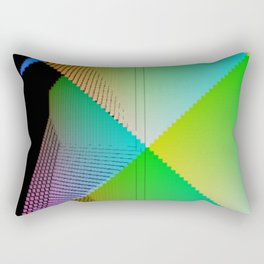 RGB (red gren blue) pixel grid planes crossing at right angles Rectangular Pillow