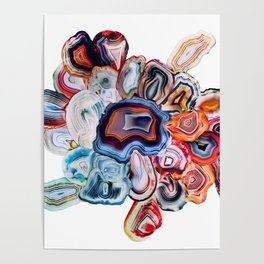 Earth's Loveliness, Agate Collection Poster