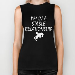 Rodeo, Cowgirl, I'm in a Stable Relationship Biker Tank