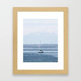 Sailing Beneath the Olympics Framed Art Print