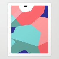 Close Up Art - Poly Art Print
